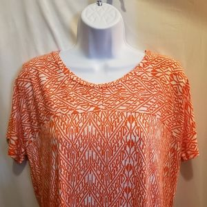 Old Navy Orange Baja Theme Shortsleeve Top - M